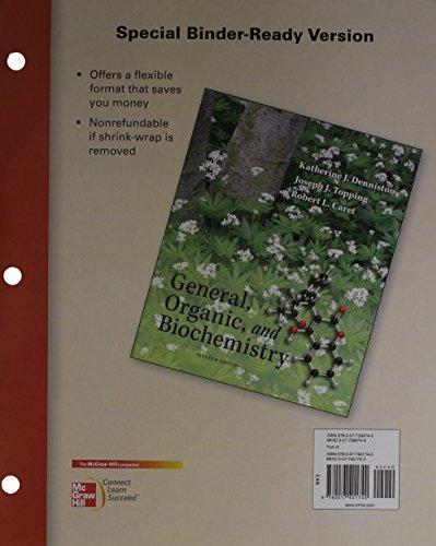 9780077401740: Loose Leaf General, Organic & Biochemistry