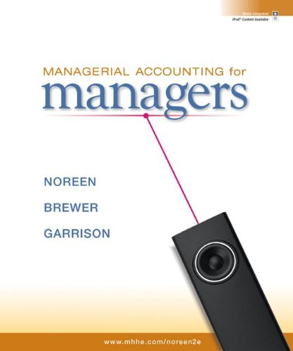 9780077403485: Managerial Accounting for Managers with Connect Plus
