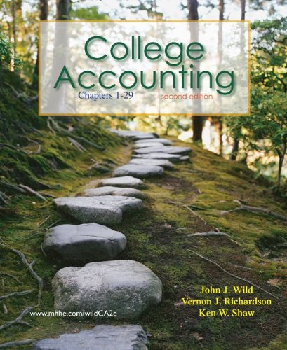 College Accounting, Chapters 1-29, 2nd Edition: Wild, John J;