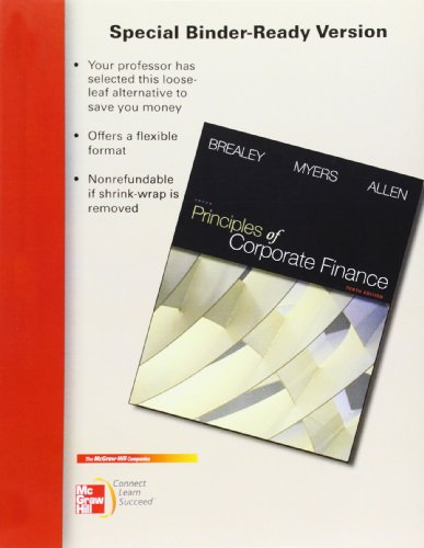 9780077404895: Principles of Corporate Finance, 10th Edition