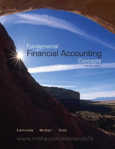Loose-Leaf Fundamental Financial Accounting Concepts: Edmonds, Thomas, McNair,