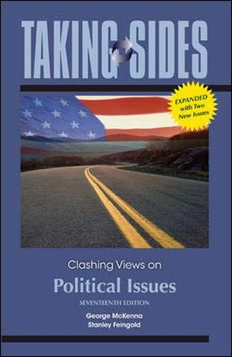 9780077406080: Taking Sides: Clashing Views on Political Issues, Expanded