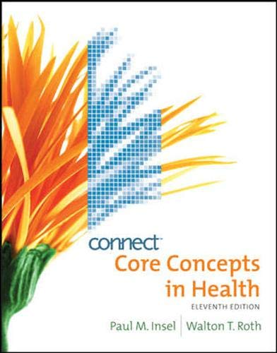 9780077407315: Core Concepts in Health with Connect Plus Personal Health Access Card