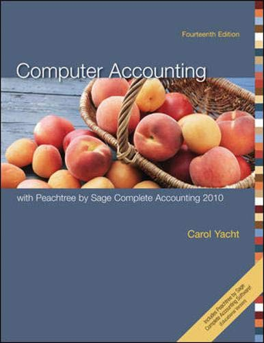 9780077408749: Computer Accounting with Peachtree by Sage Complete Accounting 2010