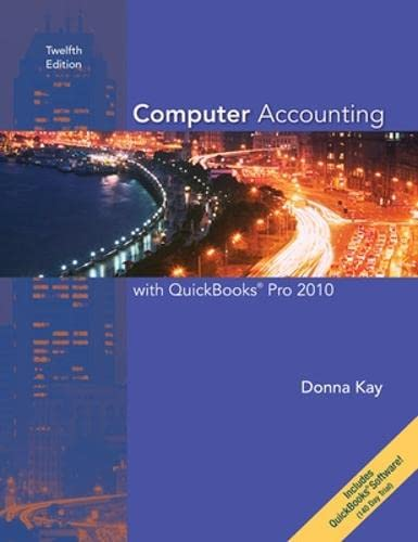 9780077408756: Computer Accounting with QuickBooks Pro 2010