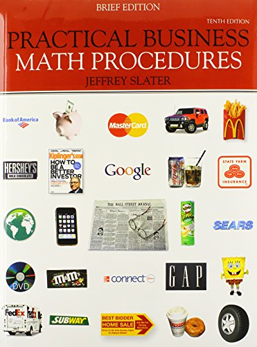 9780077408787: Practical Business Math Procedures, Brief Edition, with Business Math Handbook, Student DVD, WSJ insert + Connect Access Card
