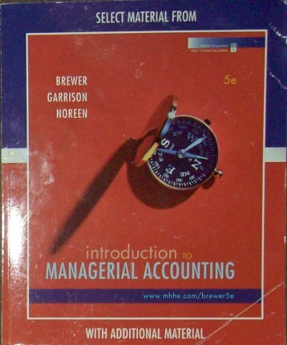 9780077409890: into to managerial accounting