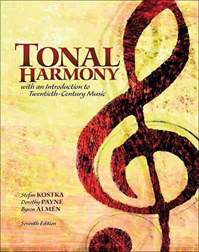 Workbook for Tonal Harmony (0077410173) by Kostka, Stefan