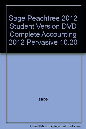 Sage Peachtree 2012 Student Version DVD Complete: sage
