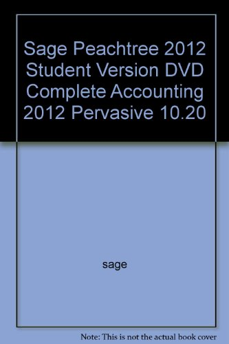 9780077410407: Sage Peachtree 2012 Student Version DVD Complete Accounting 2012 Pervasive 10.20