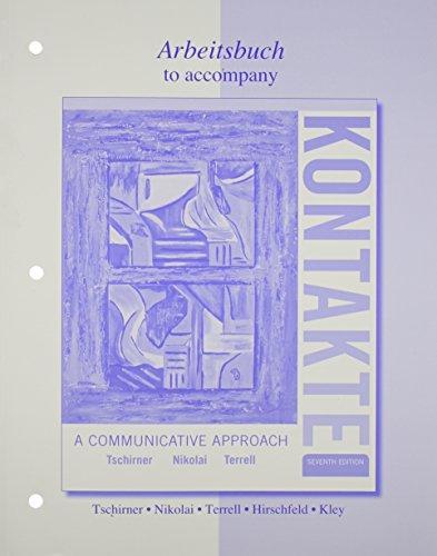 9780077410520: Workbook/Laboratory Manual for Kontakte