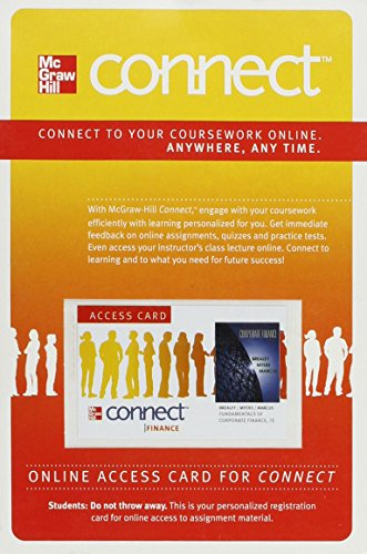 9780077410636: Connect Finance 1 Semester Access Card for Fundamentals of Corporate Finance