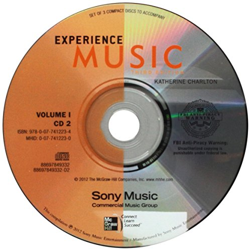 9780077412234: Audio CD Set (3 CDs) Volume 1 for Experience Music