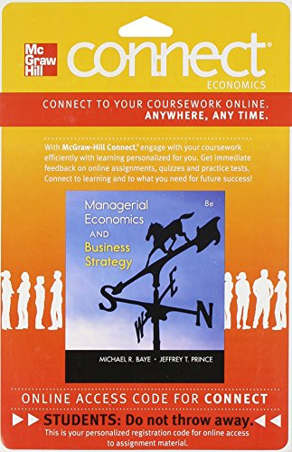 9780077413842: Connect Economics with LearnSmart One Semester Access Card for Managerial Economics