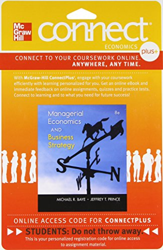 9780077413859: Connect 1-Semester Access Card for Managerial Economics