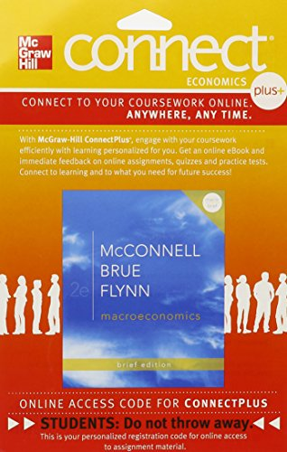 9780077416263: Connect Plus Economics with LearnSmart One Semester Access Card for Macroeconomics Brief Edition
