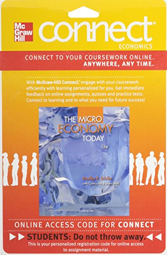 9780077416546: Connect Economics One Semester Access Card for Microeconomics