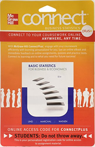 9780077416812: Connect 1-Semester Access Card for Basic Statistics for Bus & Econ