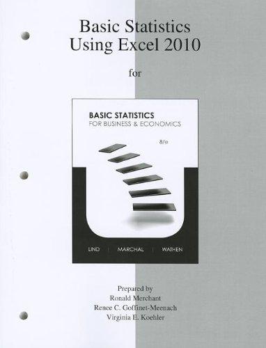 9780077416829: Basic Statistics using Excel 2010 to accompany Basic Statistics for Business & Economics