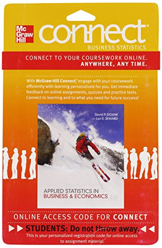 9780077416850: Connect Business Statistics 2 Semester Access Card for Applied Statistics in Business and Economics