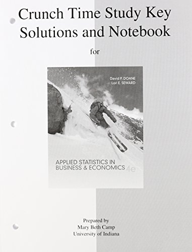 9780077416881: Study Guide to accompany Applied Statistics in Business and Economics