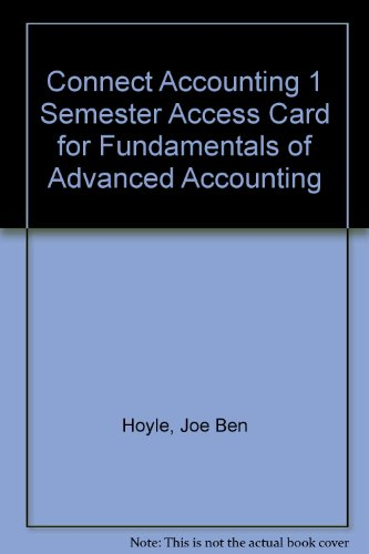 9780077417345: Connect Accounting 1 Semester Access Card for Fundamentals of Advanced Accounting