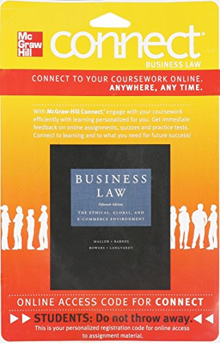 9780077419417: Connect Business Law 2 Semester Access Card for Business Law