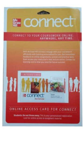 9780077420369: Connect Nutrition with Nutritioncalc Plus 3.0 1 Semester Access Card for Nutrition for Healthy Living