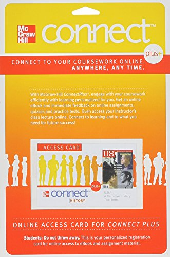 9780077420833: Connect Plus Two-Term Access Card w/ LearnSmart for US: A Narrative History