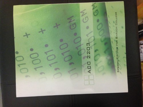 9780077424510: Introduction to Managerial Accounting ACC 2203, Special Edition for Baruch College
