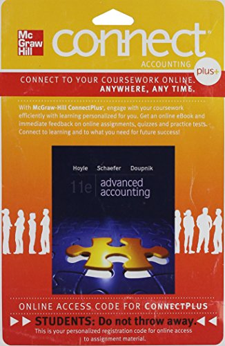 Connect 1-Semester Access Card for Advanced Accounting: Doupnik, Timothy, Schaefer,
