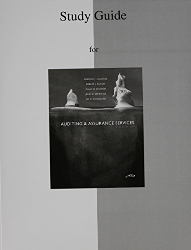 9780077425852: Study Guide to accompany Auditing and Assurance Services