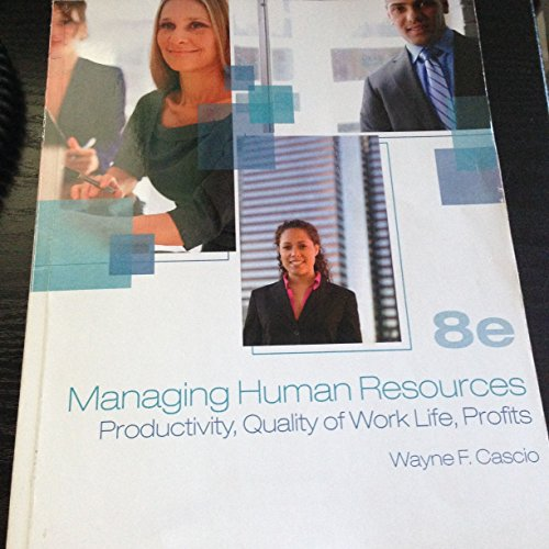 9780077426712: Managing Human Resources 8th Edition Ashworth Custom
