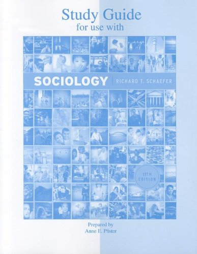 9780077427870: Student Study Guide for use with Sociology 13/E