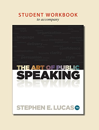 9780077428204: Student Workbook to accompany The Art of Public Speaking