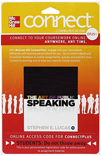 9780077428228: Connect Plus Access Card for The Art of Public Speaking, 11 Edition