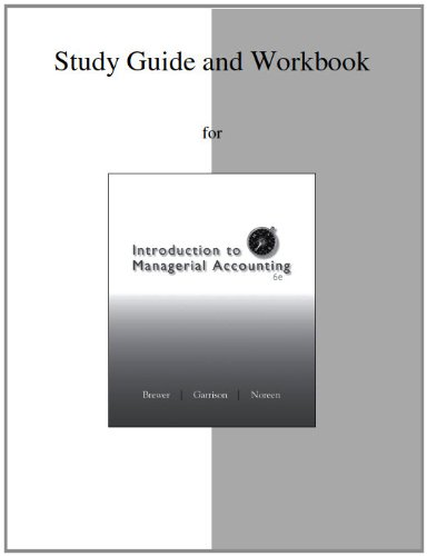9780077429553: Study Guide/Workbook to accompany Introduction to Managerial Accounting