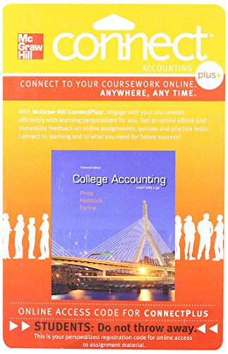 9780077430481: Connect Plus Accounting 2 Semester Access Card for College Accounting