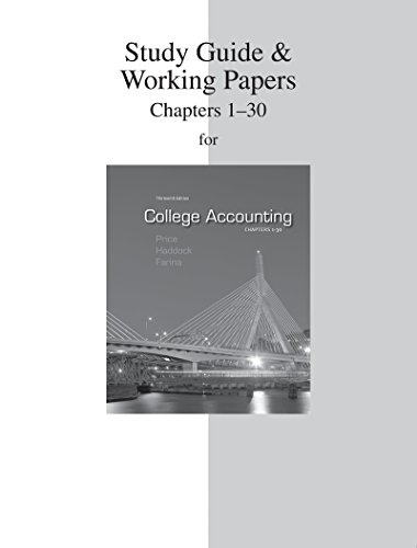 9780077430580: Study Guide & Working Papers to accompany College Accounting (Chapters 1-30)