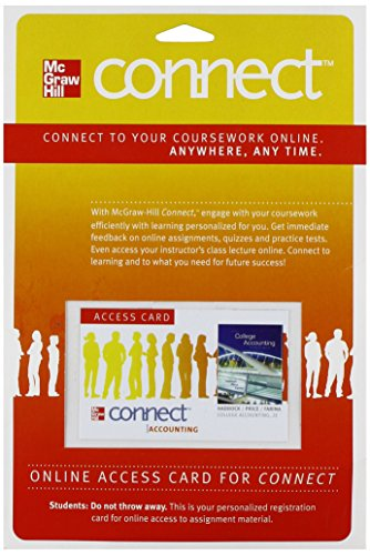 9780077430672: Connect Accounting 1 Semester Access Card for College Accounting (A Contemporary Approach)
