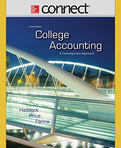 9780077430696: Connect 1-Semester Access Card for College Accounting (A Contemporary Approach)