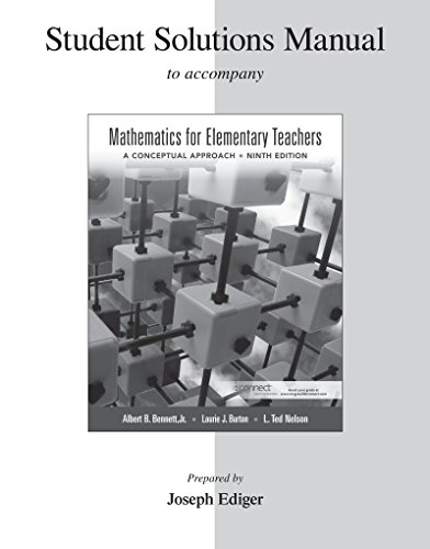 9780077430900: Student Solutions Manual for Mathematics for Elementary Teachers