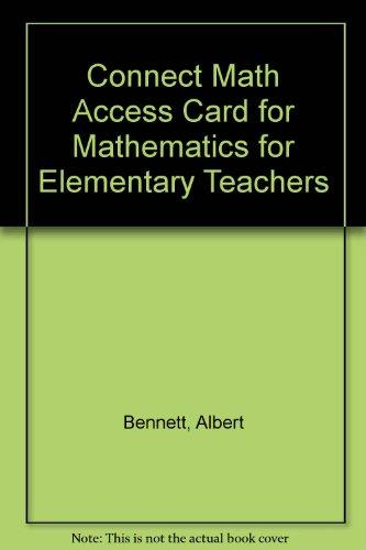 9780077430962: Connect Math Access Card for Mathematics for Elementary Teachers