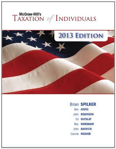 9780077434113: McGraw-Hill's Taxation of Individuals, 2013 Edition