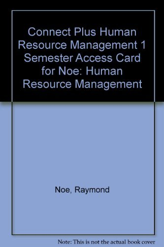 9780077437237: Connect Plus Human Resource Management 1 Semester Access Card for Noe: Human Resource Management