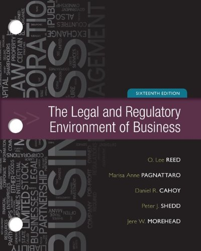 9780077437336: The Legal and Regulatory Environment of Business, 16th Edition