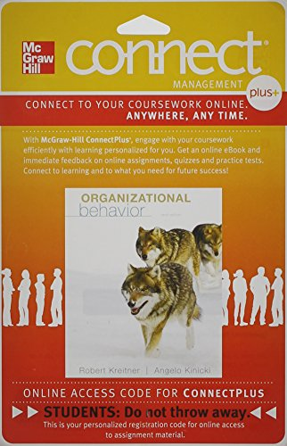 Connect Plus Access Card for Organizational Behavior