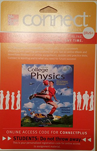 9780077437916: ConnectPhysics Plus Access (1 sem) Card for College Physics