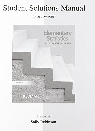 9780077438654: Student Solutions Manual for Elementary Statistics: A Step By Step Approach
