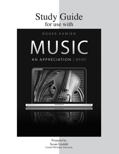 9780077438876: Study Guide for use with Music: An Appreciation, Brief